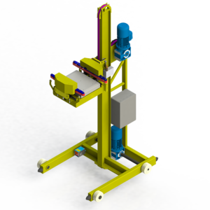 Stacker for automated storage system, Nanoload